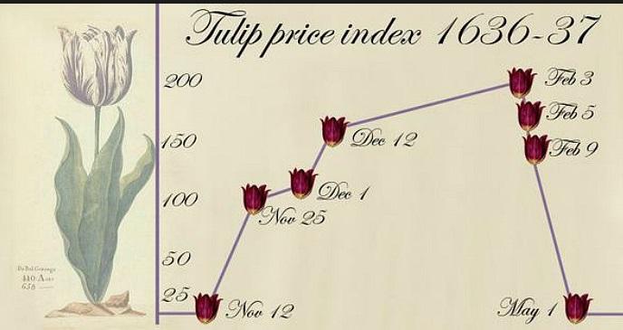 holanda burbuja tulipanes