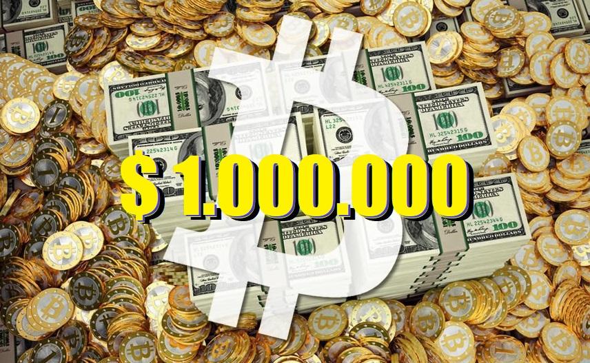 El precio de Bitcoin llegará a un millón de dólares