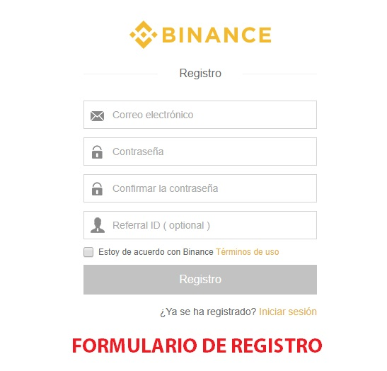 Como usar Binance Exchange | FORMULARIO DE REGISTRO